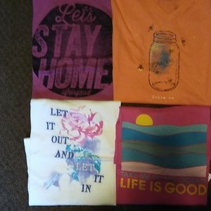 4 T-shirts by Life is Good Size Small